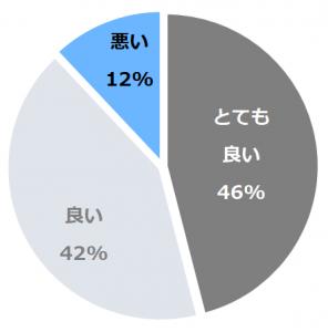 ベストウェスタン沖縄恩納ビーチ口コミ構成比率表(最低最悪を含む)