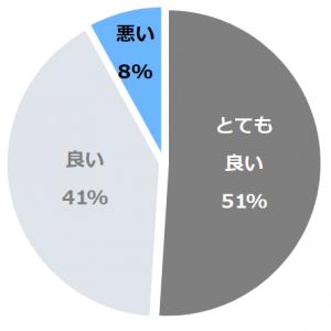 ホテル花小宿(はなこやど)口コミ構成比率表(最低最悪を含む)