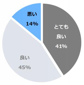ホテル海望(かいぼう)口コミ構成比率表(最低最悪を含む)