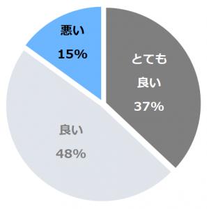 旅の宿 丸京(まるきょう)口コミ構成比率表(最低最悪を含む)