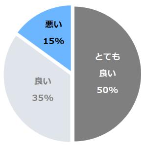 多田屋(ただや)口コミ構成比率表(最低最悪を含む)