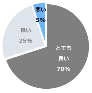 大和屋別荘(やまとやべっそう)口コミ構成比率表(最低最悪を含む)