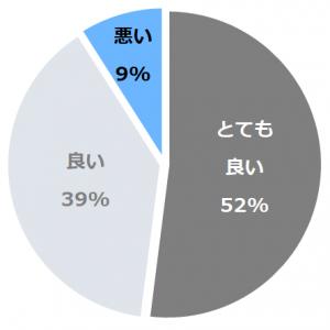ニセコ温泉郷 いこいの湯宿 いろは口コミ構成比率表(最低最悪を含む)