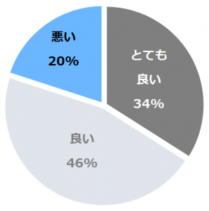 パレスホテル立川(ぱれすほてるたちかわ)口コミ構成比率表(最低最悪を含む)