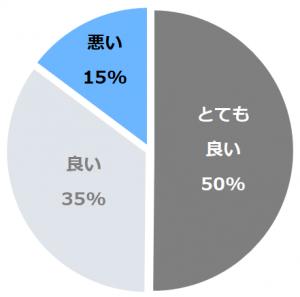 村杉温泉 長生館(ちょうせいかん)口コミ構成比率表(最低最悪を含む)