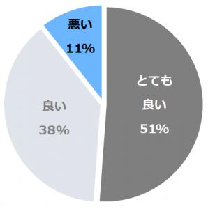 田中温泉 しなの荘口コミ構成比率表(最低最悪を含む)